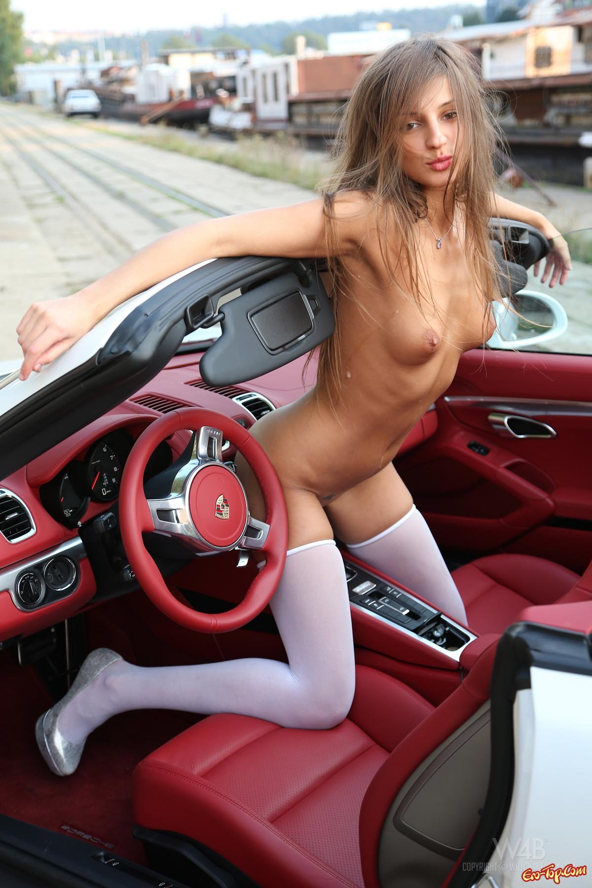 Girls naked in car, just nude grace