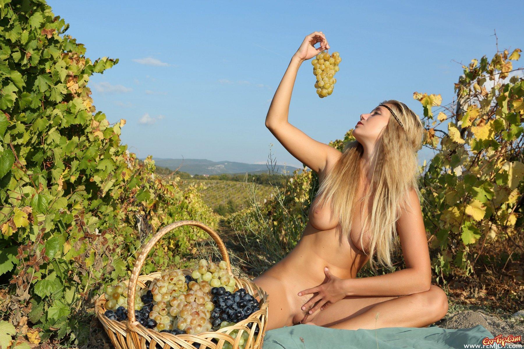 порнофильм девушки на винограднике