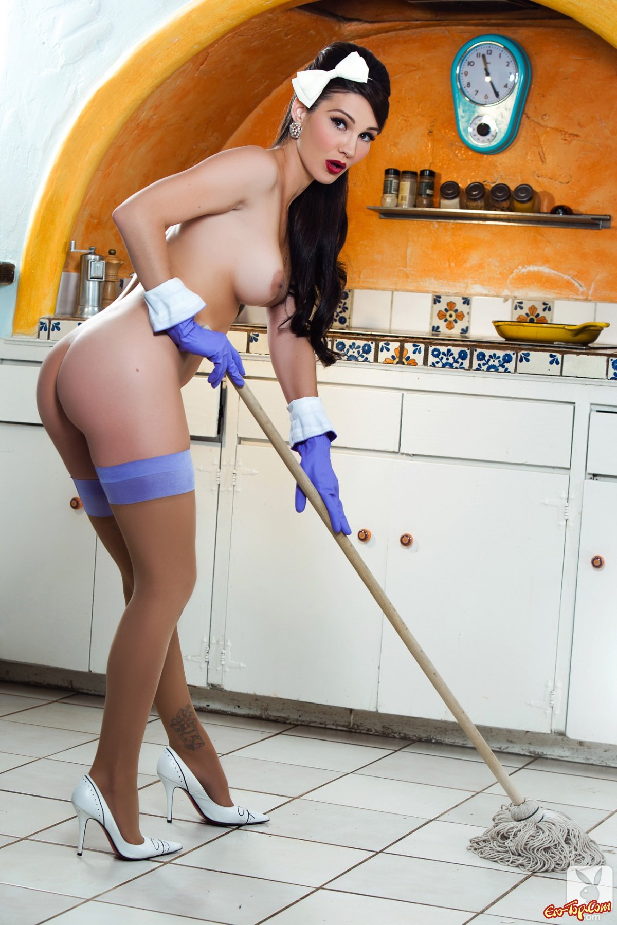 Уборщица на дом порно 4