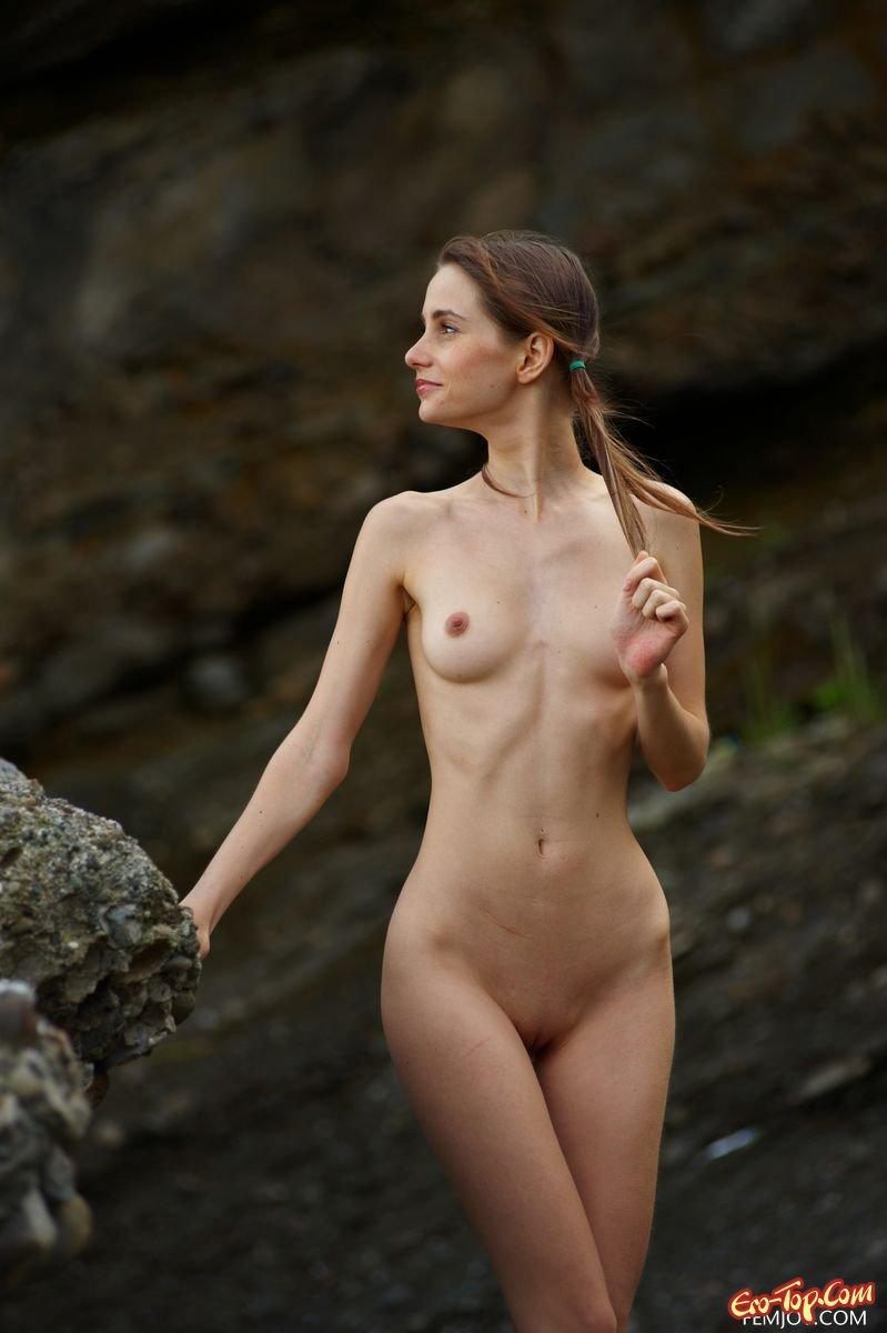 A naked skinny girl 11