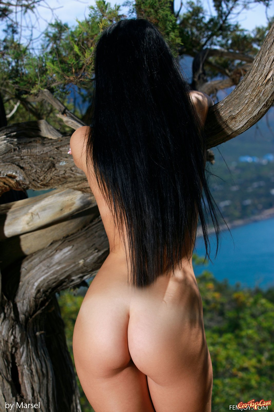 фото голых брюнеток сзади - 10